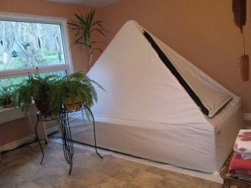 the zen float tent at home