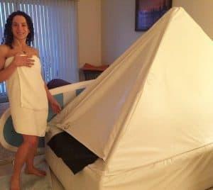 the zen float tent in action