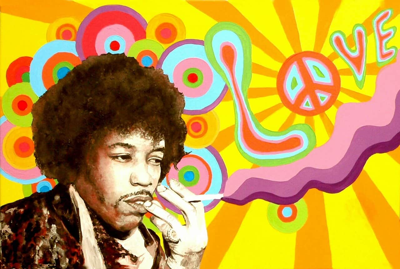 jimi hendrix smoking weed